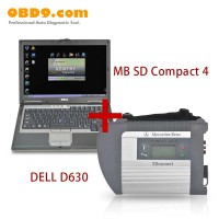 MB SD C4 V2017.07 Star Diagnostic Tool With DELL D630 Laptop (Software HDD Installed Already)