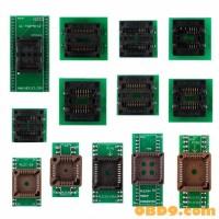 13pcs Adapter For Superpro Xeltek 610P USB ECU Programmer Burn Block